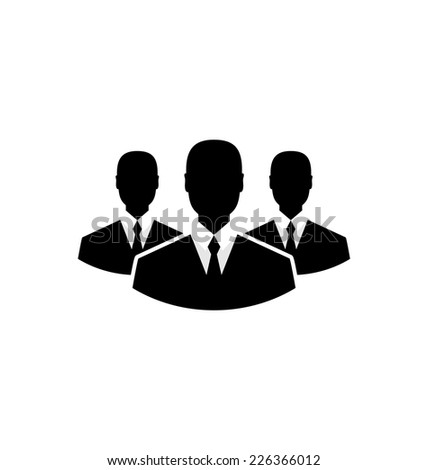Illustration team icon, community business people - vector - stock vector