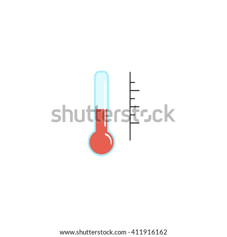illustration thermometer with different levels - stock vector