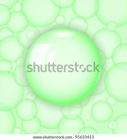 Illustration transparency ball - vector - stock vector