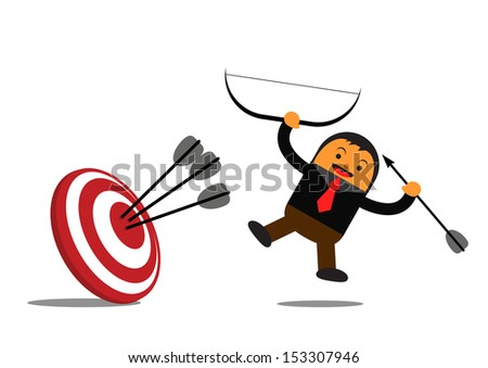 illustration vector graphic cartoon character of businessman in activity - stock vector