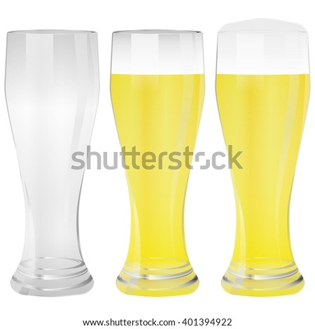 Illustration Vector Graphic Glass Wheat Beer for the creative use in graphic design