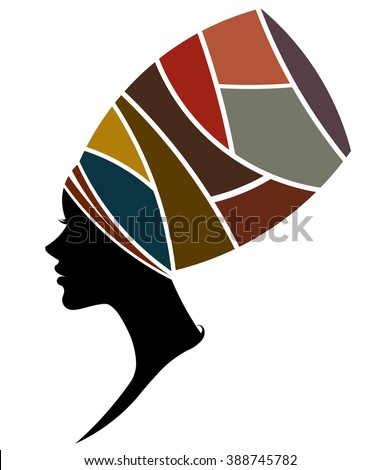 African silhouette art people