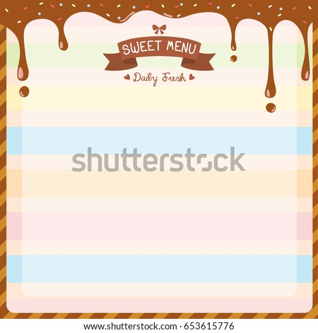 Illustration Vector Sweet Dessert Menu Template Stock Vector ...
