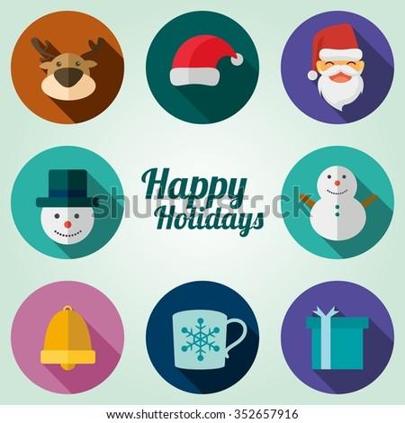 Illustration vector of winter symbol holiday.  - stock vector