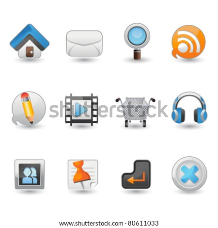 Illustration Website and Internet icon set - stock vector