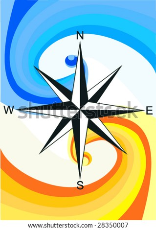 Illustration, wind rose background pattern representing.