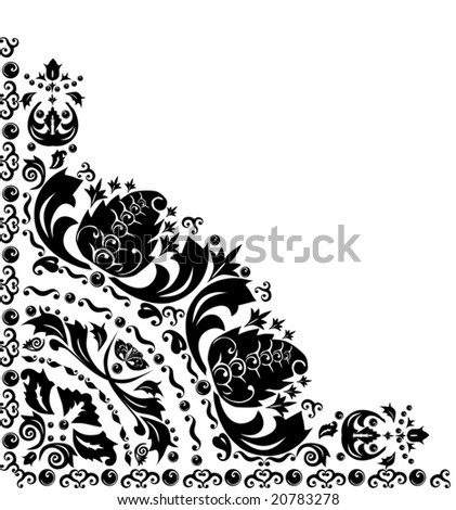 illustration with decoration on white background