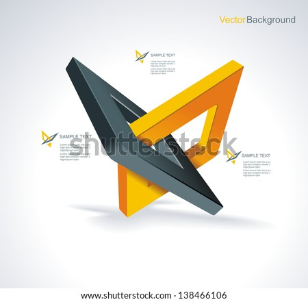 Illustration with orthogonal rhomb symbols.Unity concept.Vector. - stock vector