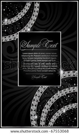 illustration with the Diamond - stock vector