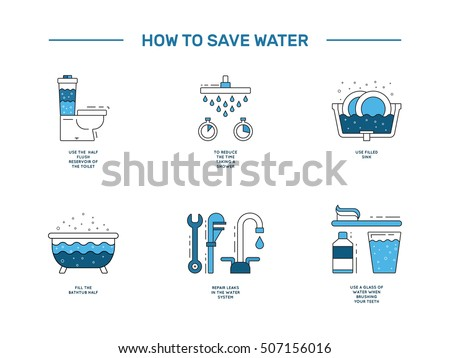 Save water stock images royalty free images vectors for How to save water in your house