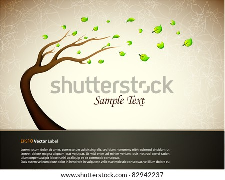 Illustration with tree/  EPS10 Compatibility Required - stock vector