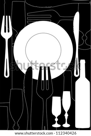 illustration with ware on black background