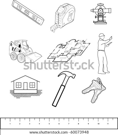 illustrations of construction items