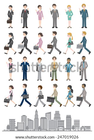 Illustrations of various people / Business - stock vector