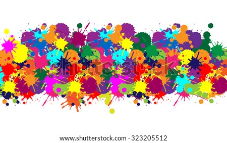 Illustrator texture with colorful brush for web color banner, background and carnival