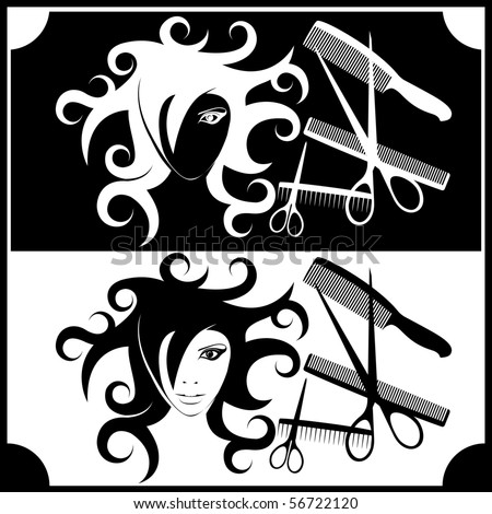 image for the interior hairdressing and beauty salons - stock vector