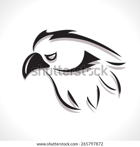 image graphic style of eagle  isolated on white background - stock vector