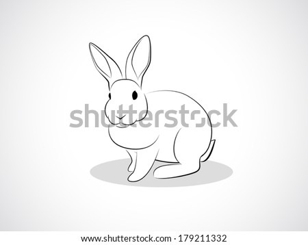 image graphic style of rabbit isolated on white background