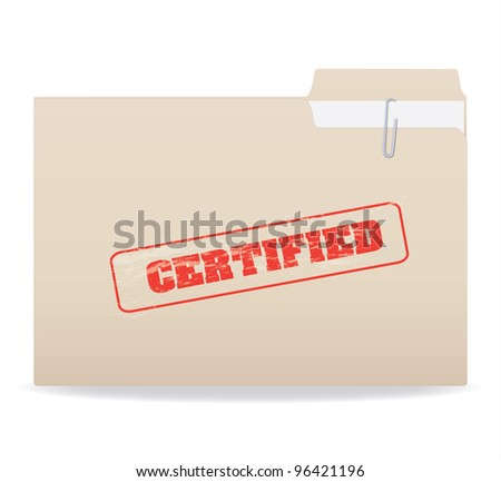 Image of a folder with a confidential stamp isolated on a white background. - stock vector
