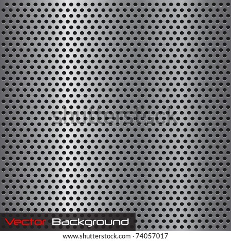 Image of a silver steel grill metal texture. - stock vector