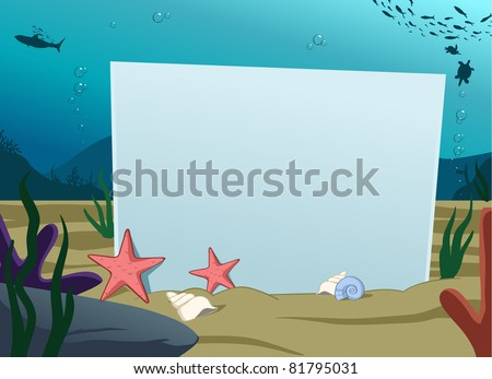 Image of blank board under water decoration. See my portfolio for other blank board theme