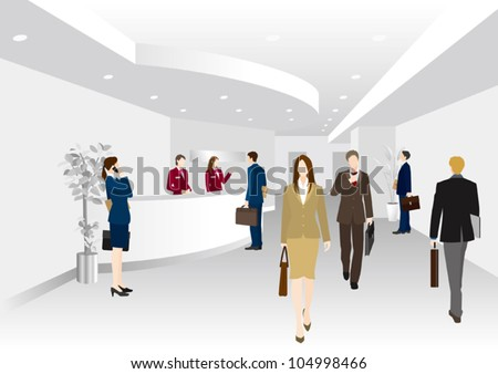 Image of business / Hole - stock vector
