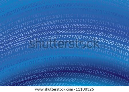 Image of digital binary code - stock vector