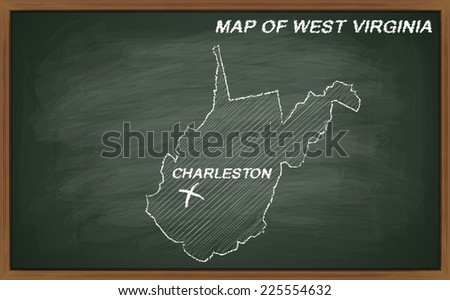 image of map of West Virginia. Transparency used.