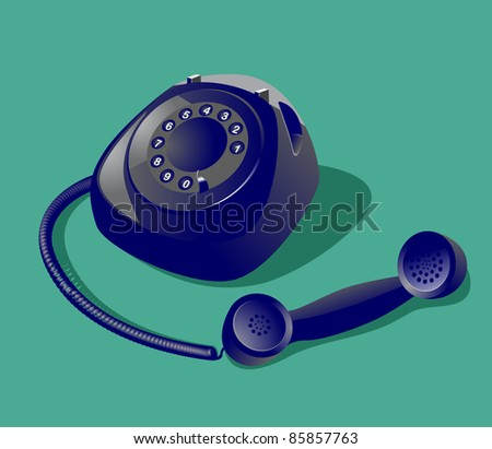 Image of vintage style telephone - stock vector