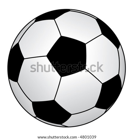 Image soccer ball isolated on a white background