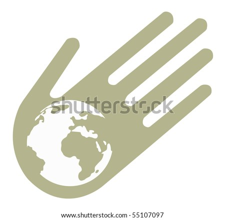 Images on ecological subjects. Can be used as a logo element. All parts of the image can be changed. - stock vector