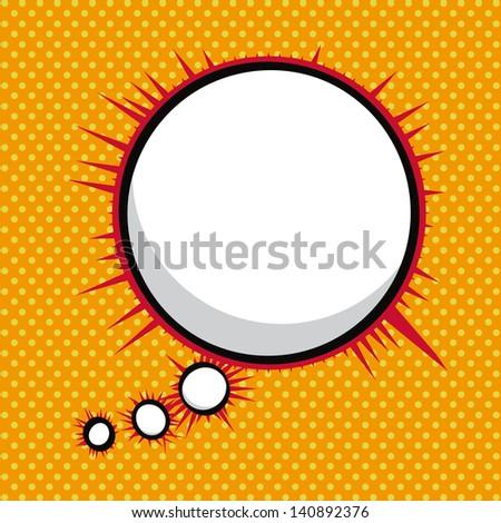 imagination comics icon over orange background vector illustration - stock vector