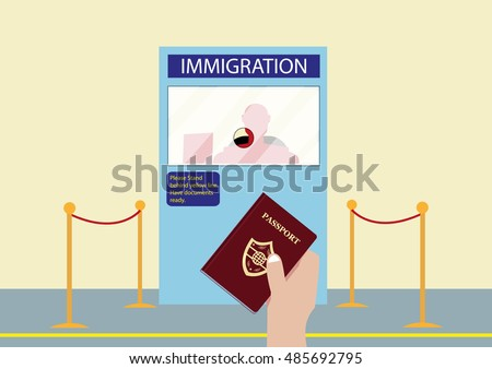 Royalty Free Immigration Officer Clip Art, Vector Images ...