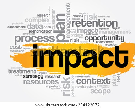 IMPACT word cloud, business concept - stock vector