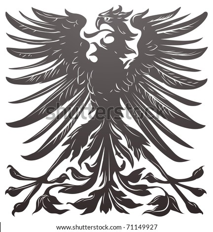 Imperial eagle most resembling that used on the coat of arms of the German empire in the late 19th century. - stock vector
