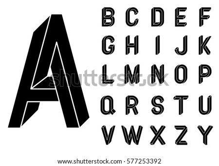 Impossible Geometry Letters Shape Font Low Poly 3d Characters Geometric