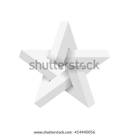 Impossible star. Vector Illustrstion - stock vector