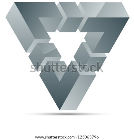 Impossible triangle sign - stock vector