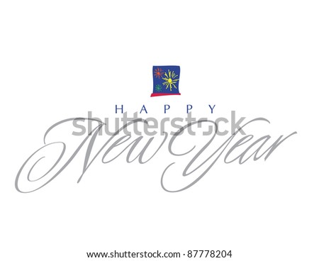 Impressionist Vector Letter Series: Happy New Year - stock vector