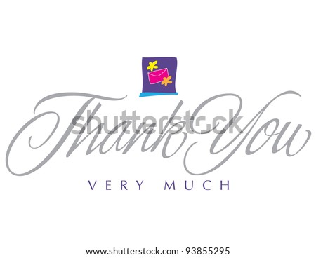Impressionist Vector Lettering Series: Thank You - stock vector