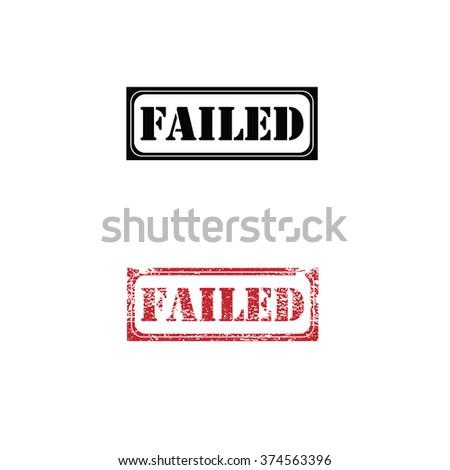 Imprint failed texture stamp vector - stock vector