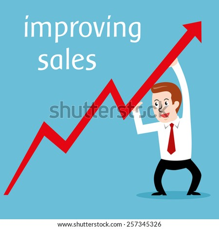 Improving sales; Vector Illustration  - stock vector
