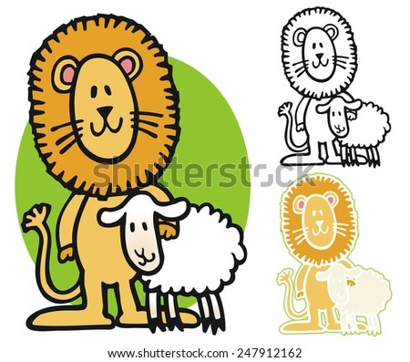 In like a lion, out like a lamb - stock vector