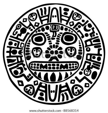 Inca icon - stock vector