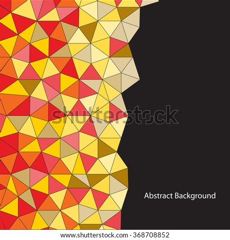 Incandescance vector abstract. Red and yellow polygons. - stock vector