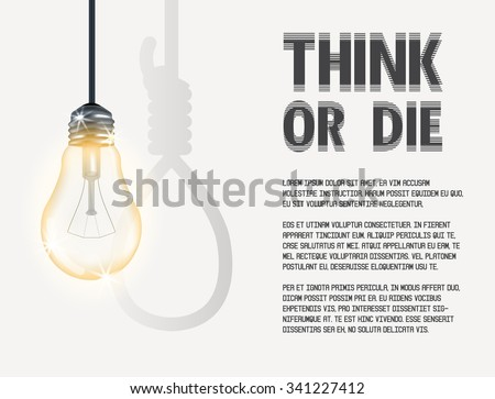 incandescent light bulb incandescent light bulb with hanging rope - stock vector