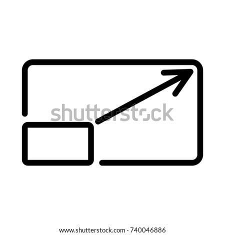arrow button on keyboard icon vectores en stock 339331691