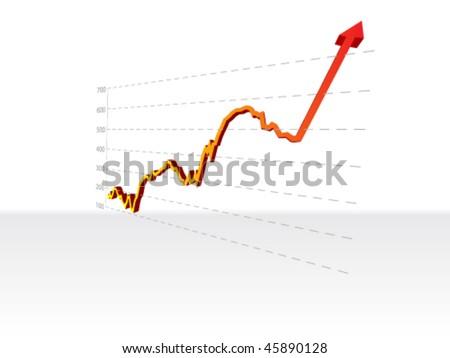 increasing stock diagram - stock vector
