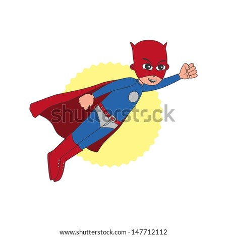 incredible superhero with red mask