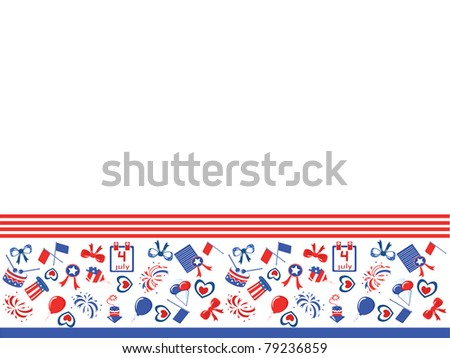 Independence Day,border - stock vector